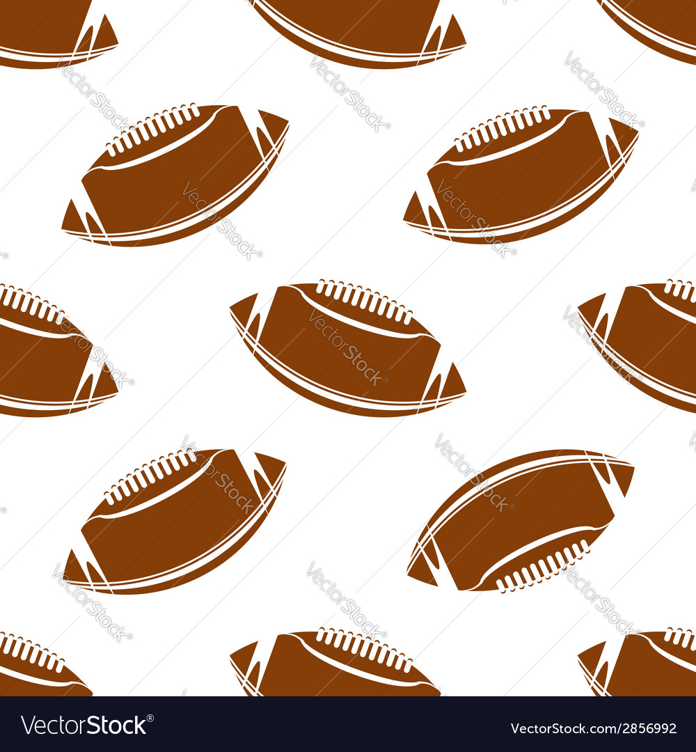 Seamless pattern of football or rugby ball vector   Price: 1 Credit (USD $1)
