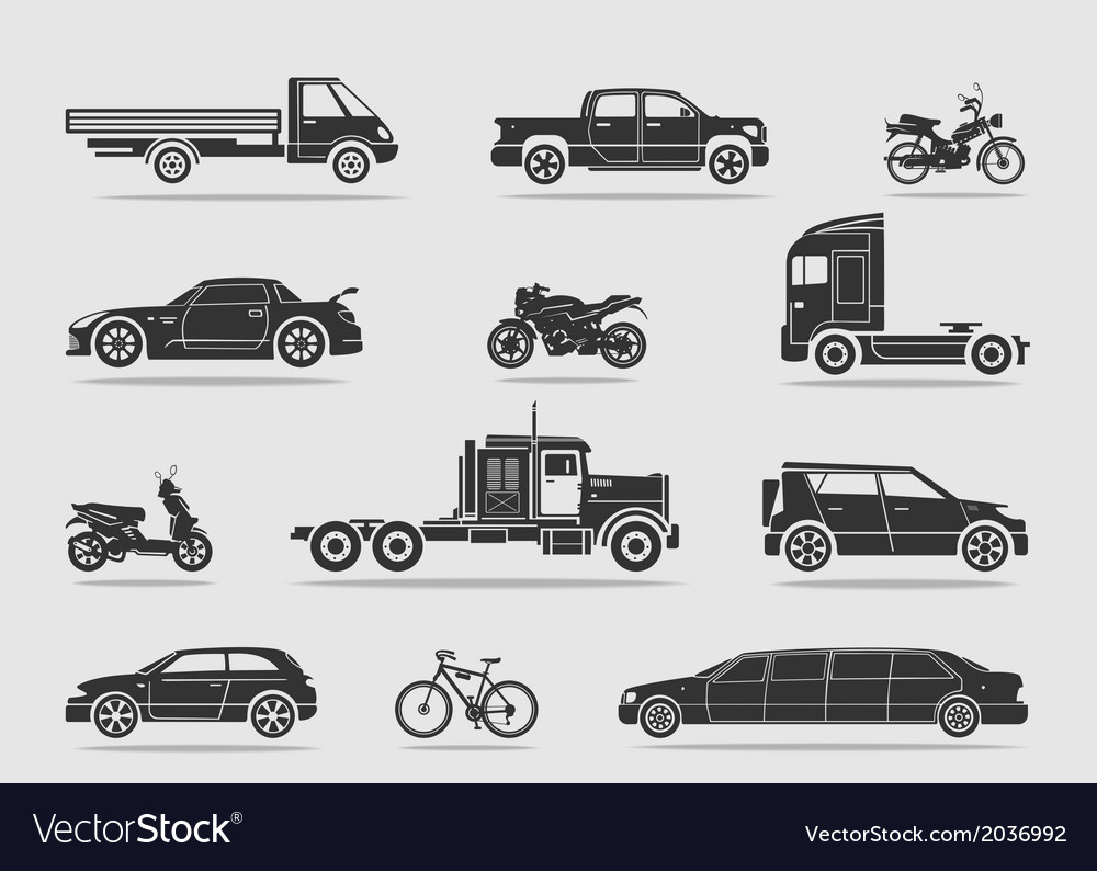 Set of transport vector | Price: 1 Credit (USD $1)