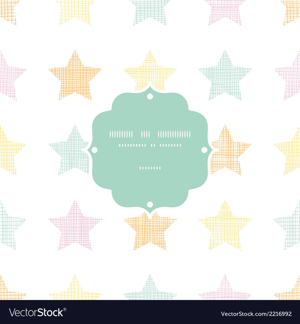 Stars textile textured pastel frame seamless vector | Price: 1 Credit (USD $1)