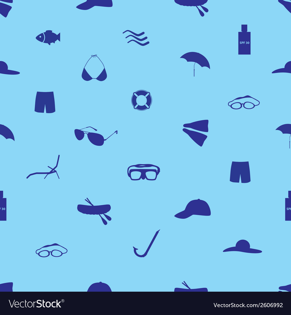 Summer and beach icon set eps10 vector | Price: 1 Credit (USD $1)