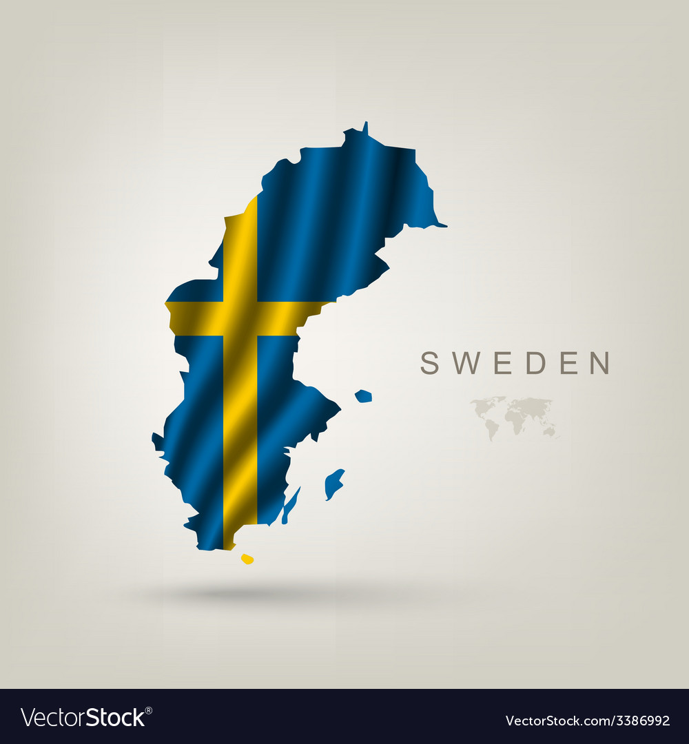 Swedish flag as a country vector | Price: 3 Credit (USD $3)