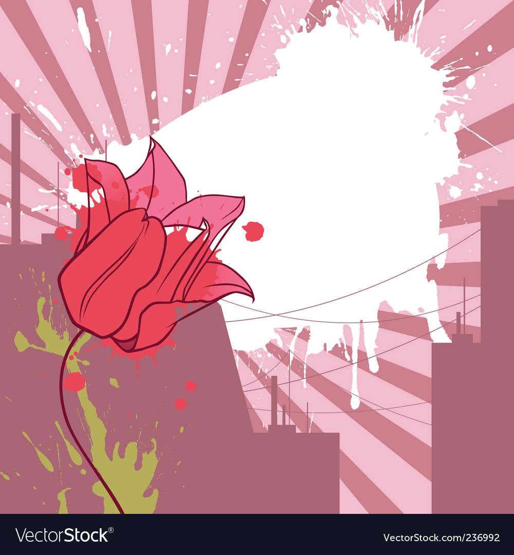 Urban tulip vector | Price: 1 Credit (USD $1)