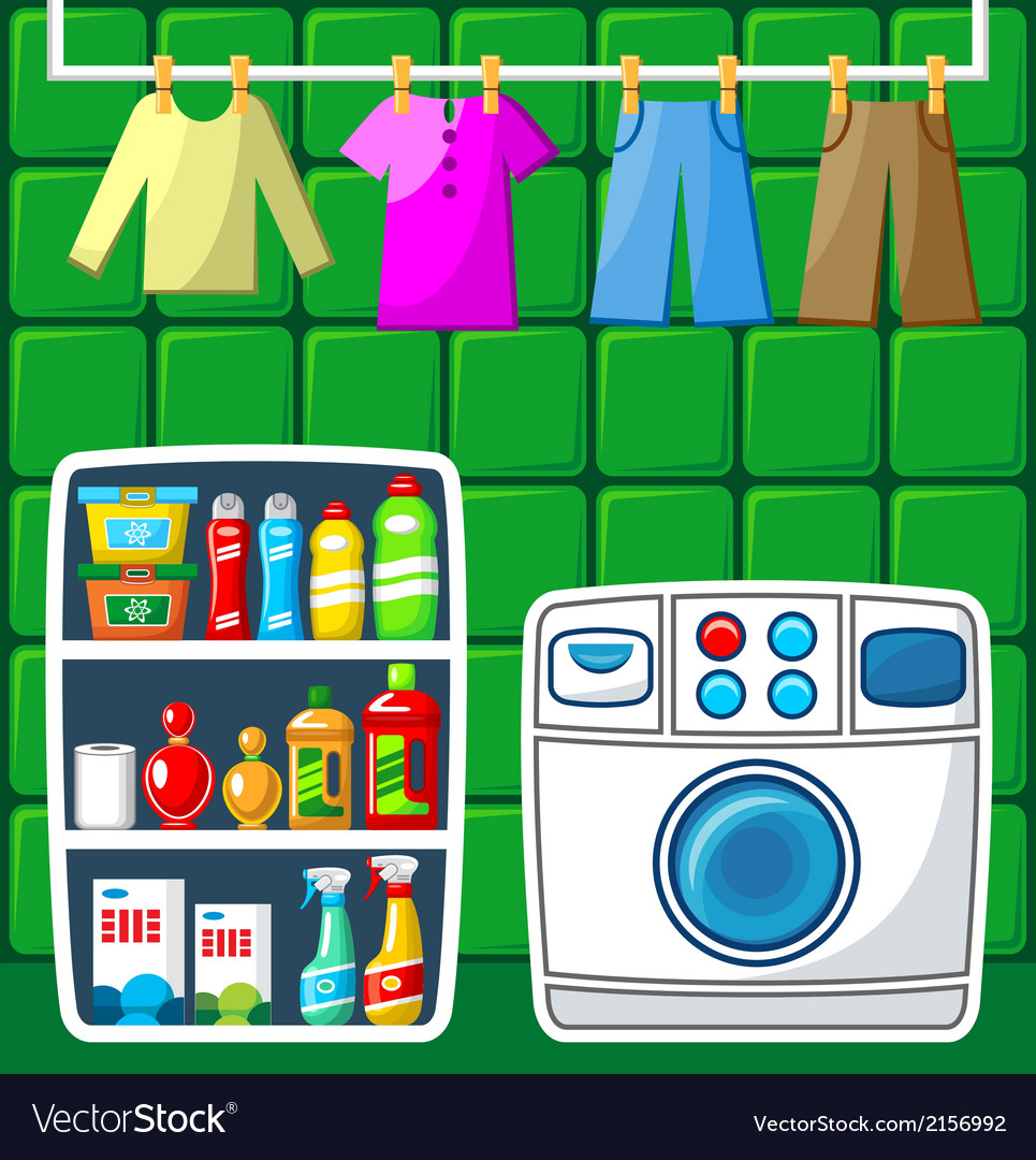 Washing room vector | Price: 1 Credit (USD $1)