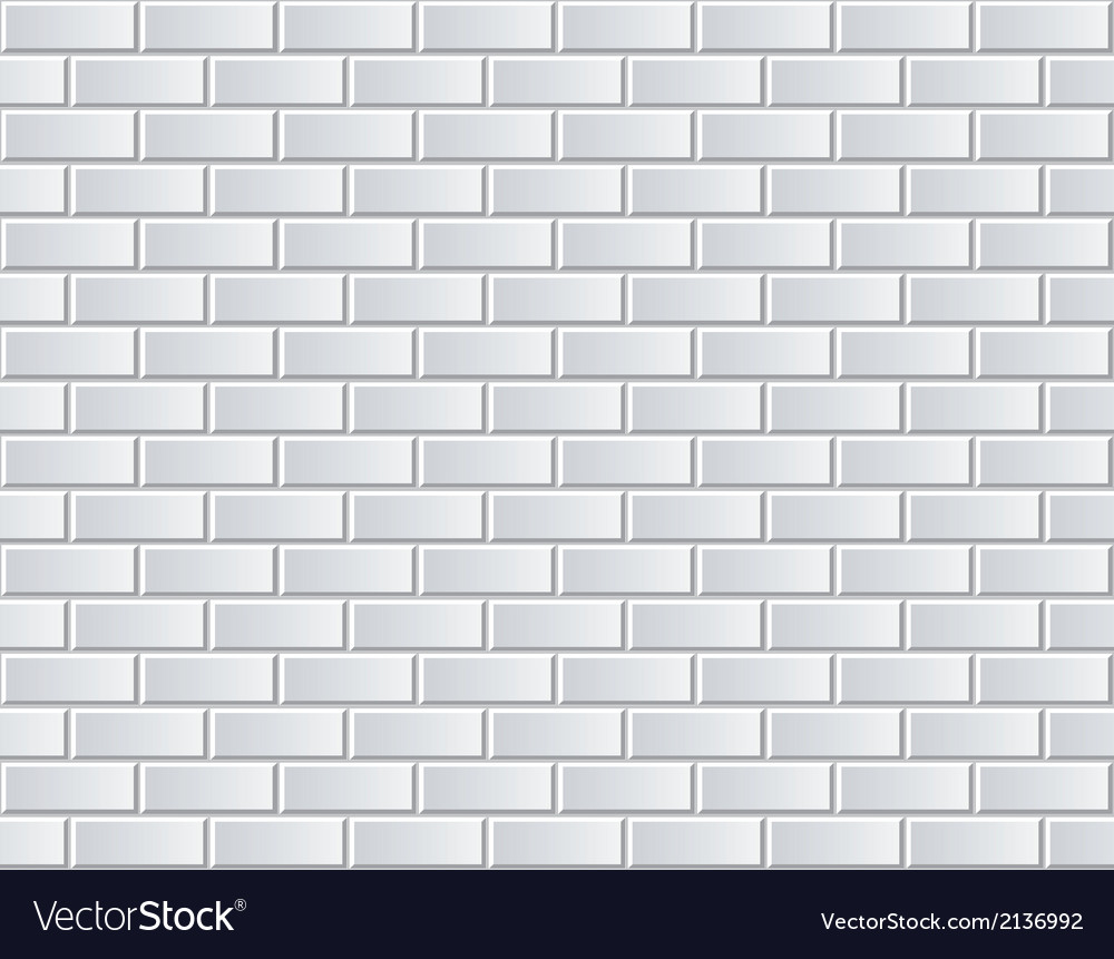 White brick wall seamless background vector | Price: 1 Credit (USD $1)