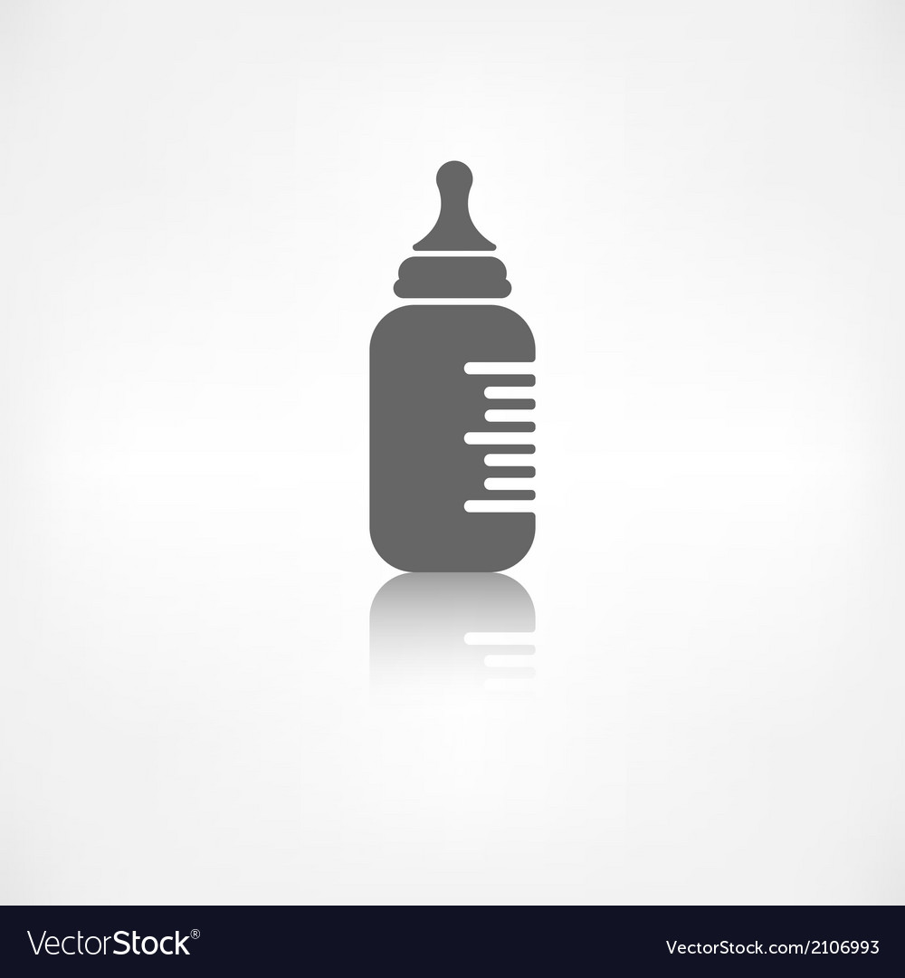 Baby pacifier bottle icon vector | Price: 1 Credit (USD $1)