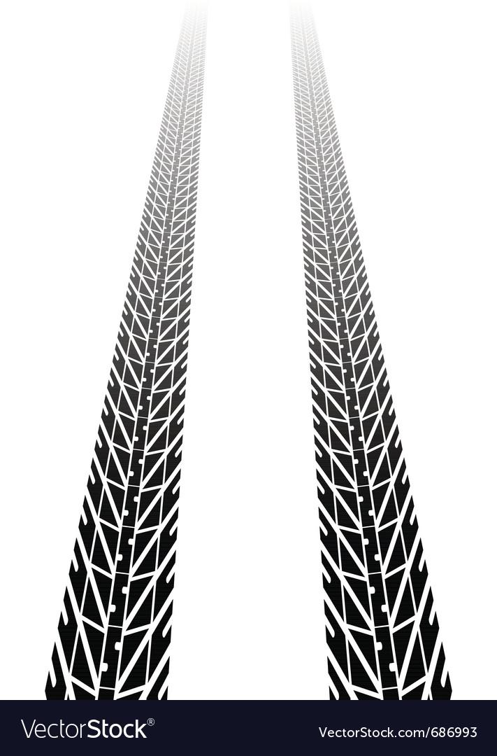 Black tire tread vector | Price: 1 Credit (USD $1)