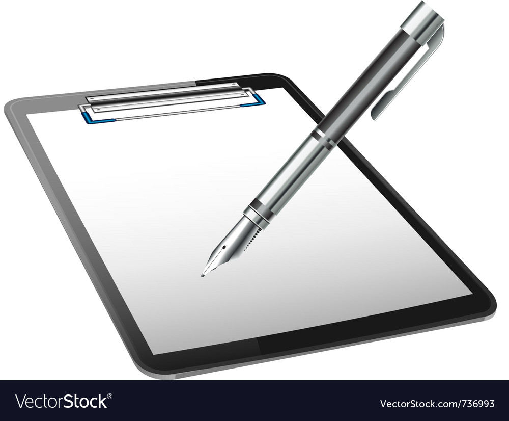 Clipboard and pen vector | Price: 1 Credit (USD $1)