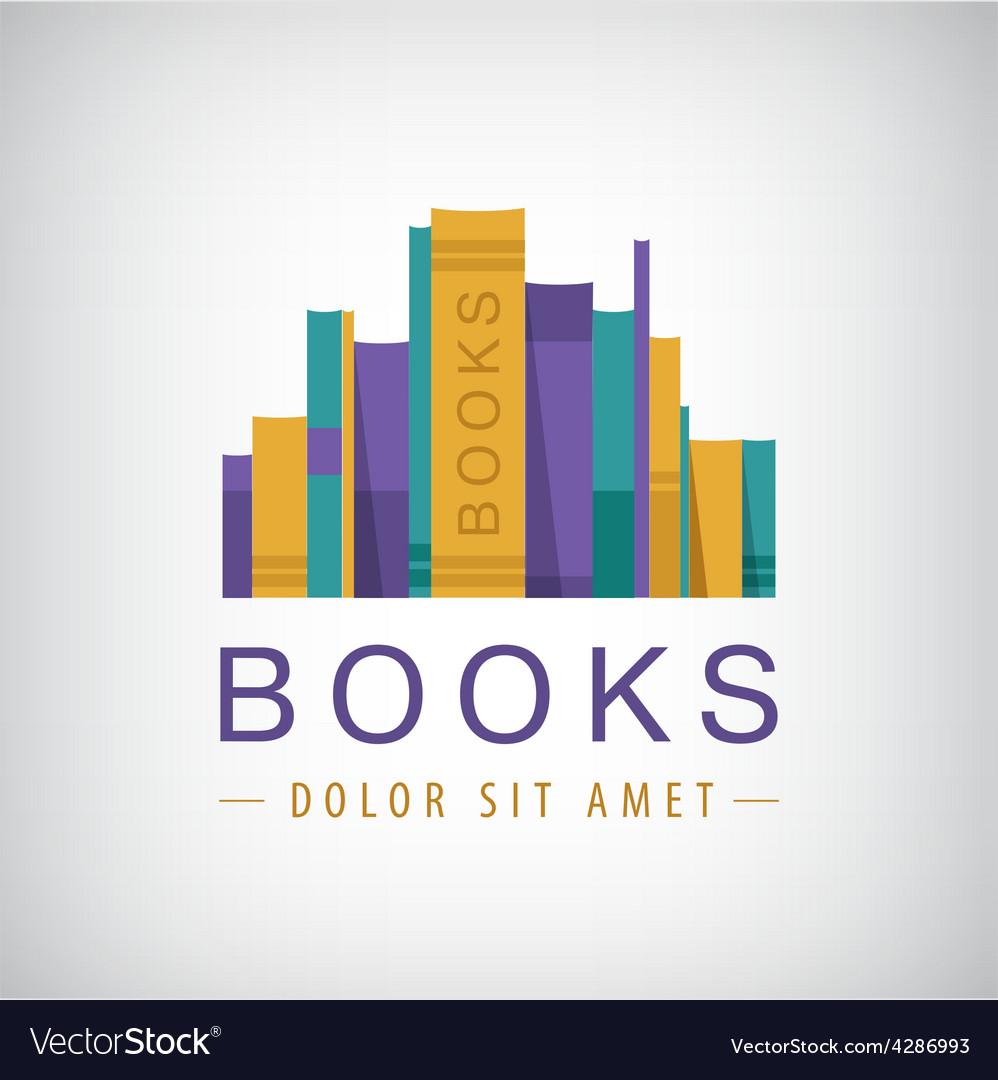 Colorful books icon vector | Price: 1 Credit (USD $1)