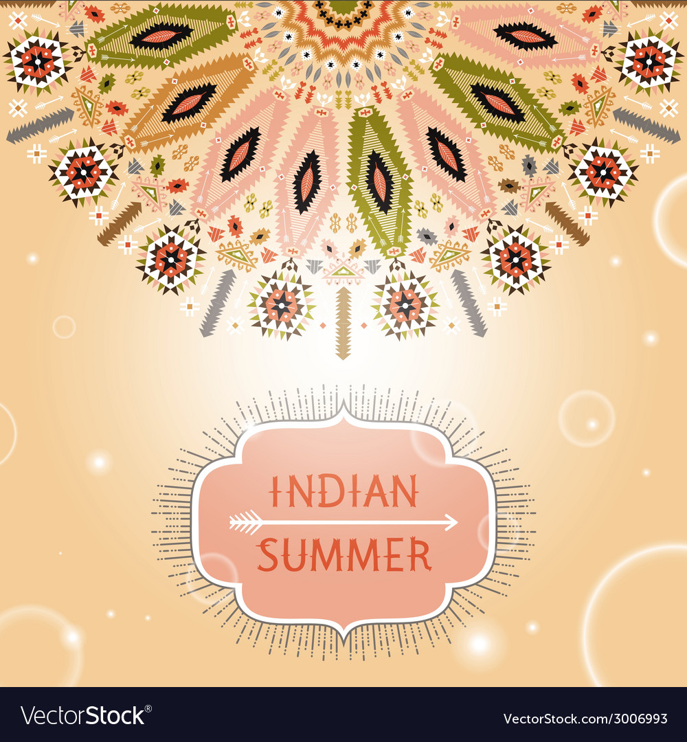 Invitation card with geometric ornament vector | Price: 1 Credit (USD $1)