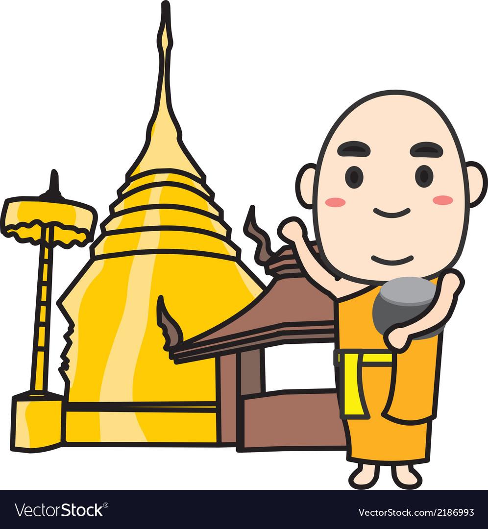 Monk thai vector | Price: 1 Credit (USD $1)