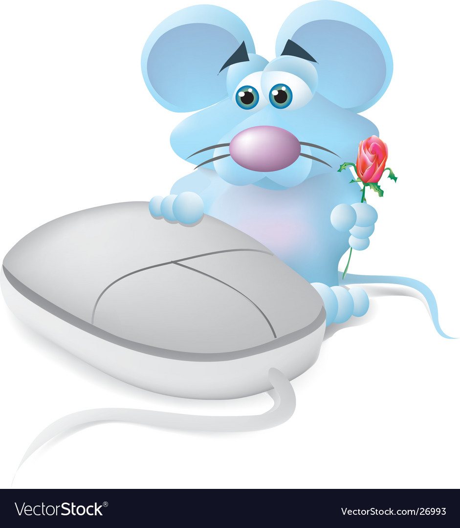 Mouse in love vector | Price:  Credit (USD $)