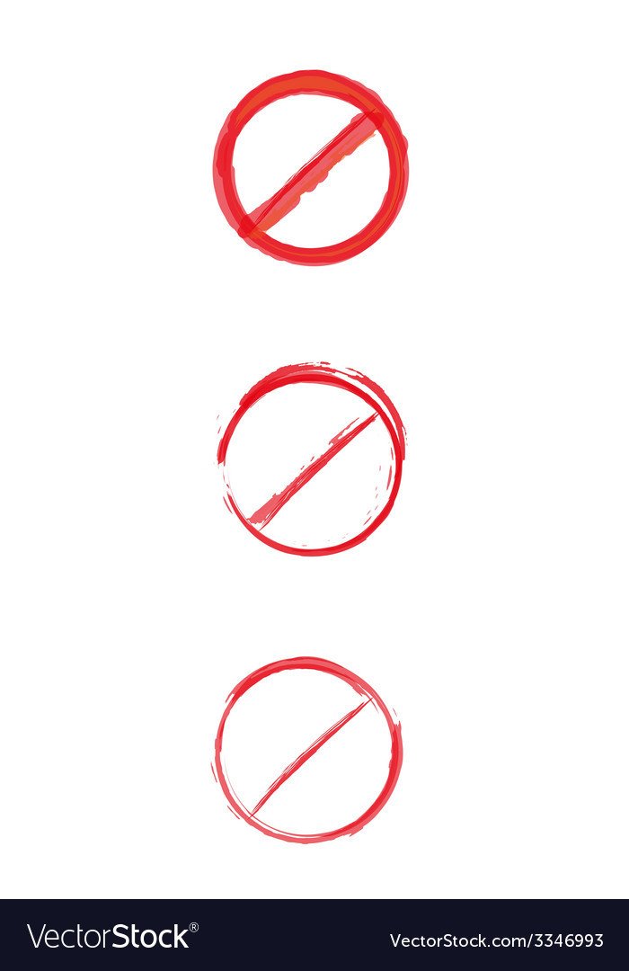 Red crossed circle danger sign vector | Price: 1 Credit (USD $1)