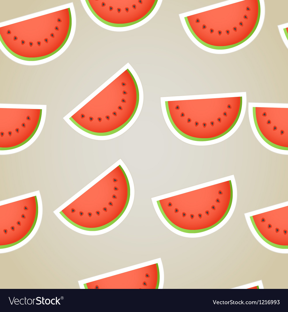 Red water melon slices seamless background vector | Price: 1 Credit (USD $1)