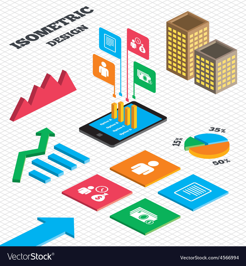 Bank loans icons fill document and get money vector | Price: 1 Credit (USD $1)