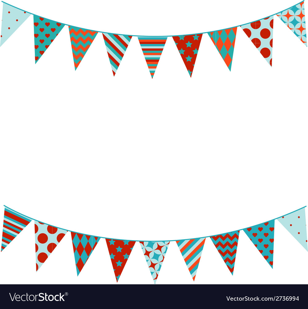 Bunting background in flat style vector | Price: 1 Credit (USD $1)