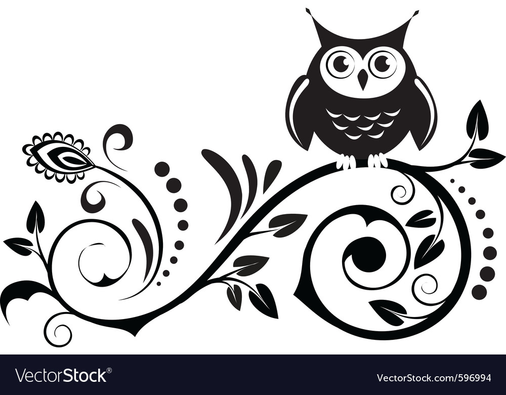 Cute owl vector | Price: 1 Credit (USD $1)