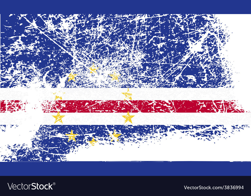 Flag of cape verde with old texture vector | Price: 1 Credit (USD $1)