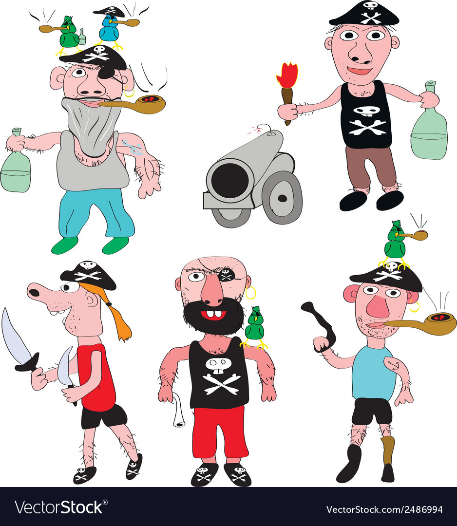 Pirates vector | Price: 1 Credit (USD $1)