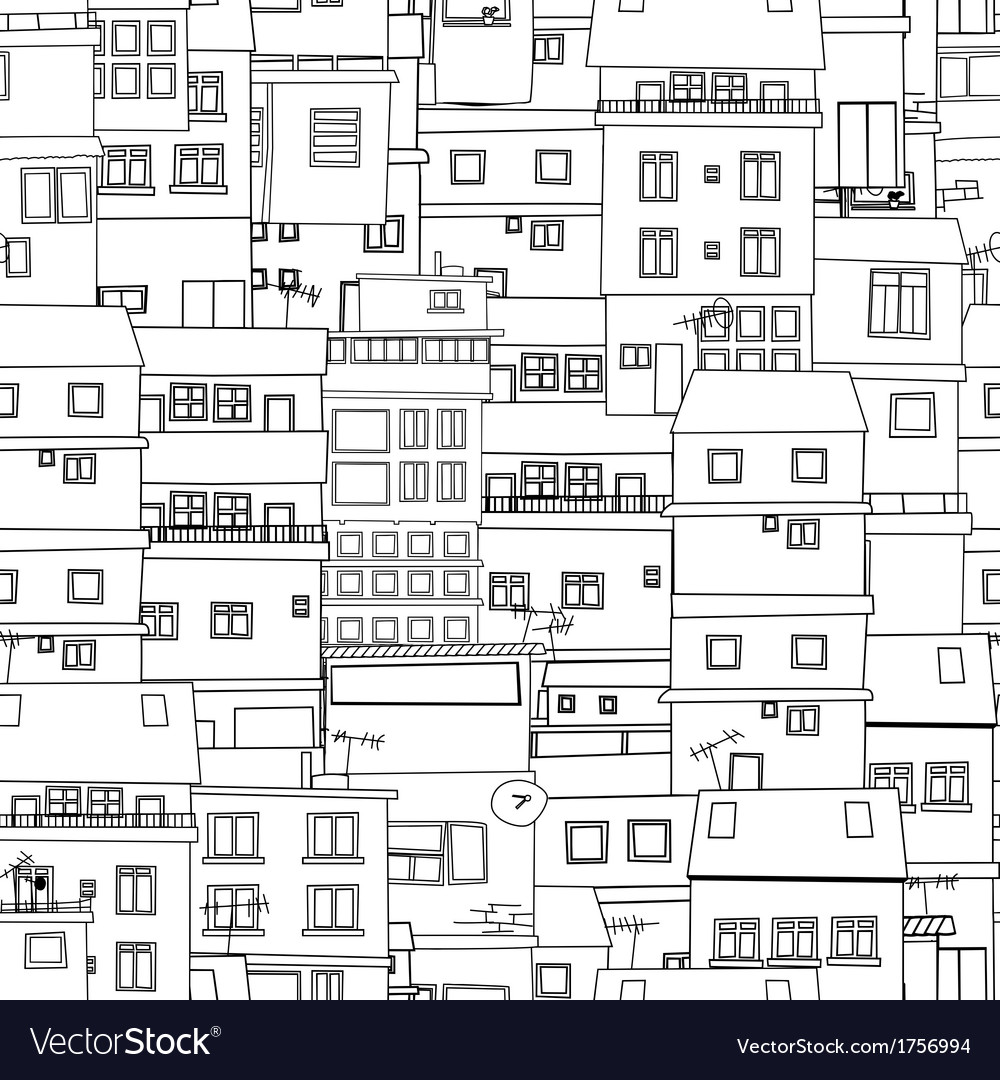 Seamless city sketch vector | Price: 1 Credit (USD $1)