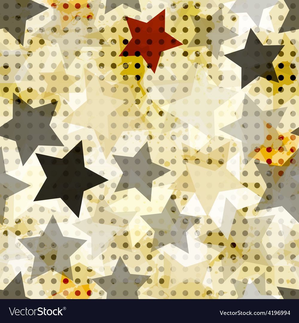 Vintage star seamless vector | Price: 1 Credit (USD $1)