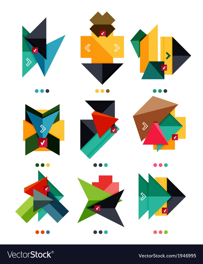 Arrow business geometric stickers vector | Price: 1 Credit (USD $1)
