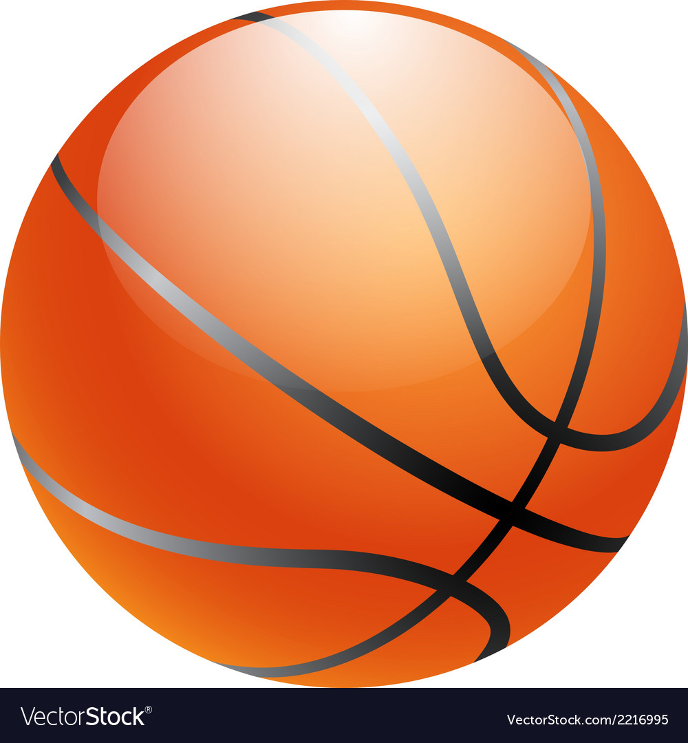 Basketball ball isolated on white background vector | Price: 1 Credit (USD $1)