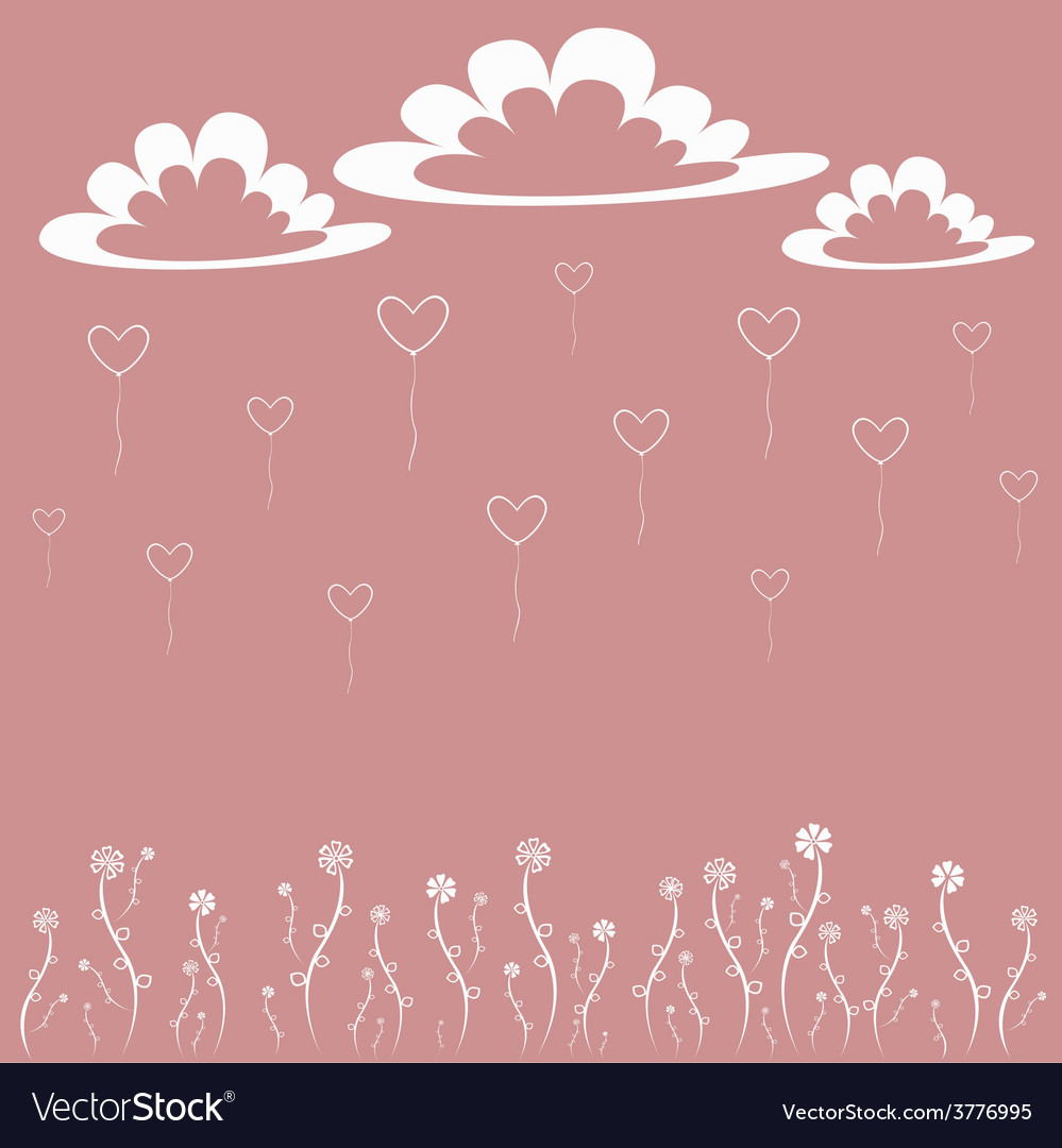 Card with hearts vector | Price: 1 Credit (USD $1)