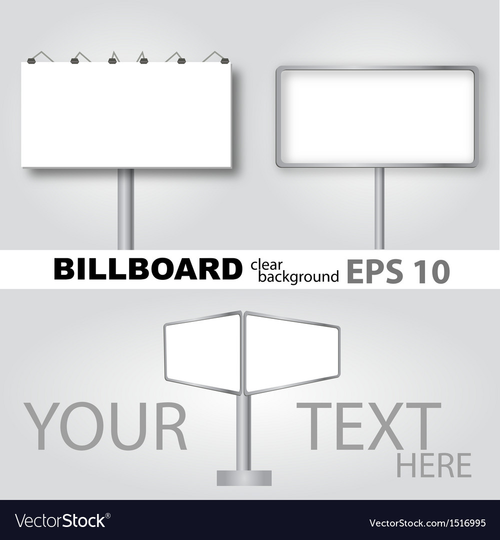 Clear billboard background vector | Price: 1 Credit (USD $1)