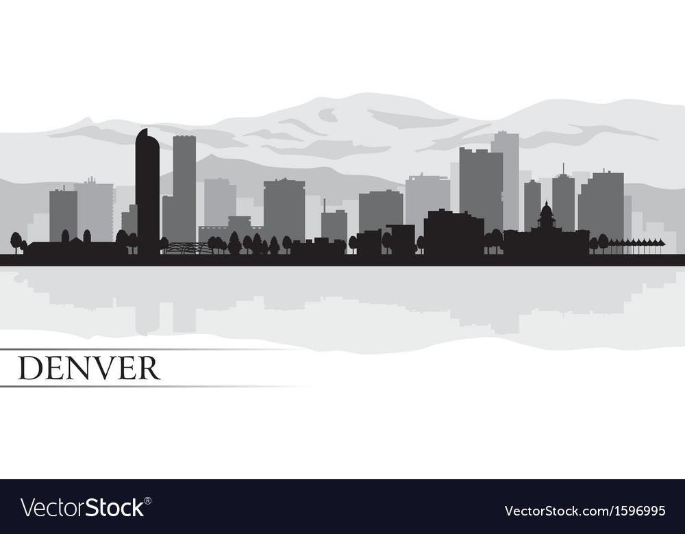 Denver city skyline silhouette background vector   Price: 1 Credit (USD $1)