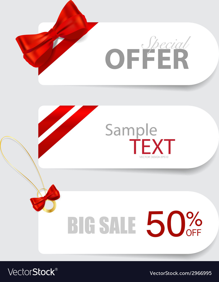 End of year sale savings labels set price tag sale vector   Price: 1 Credit (USD $1)