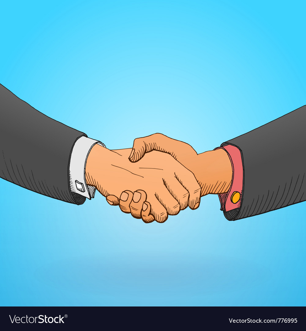 Handshake vector | Price: 3 Credit (USD $3)