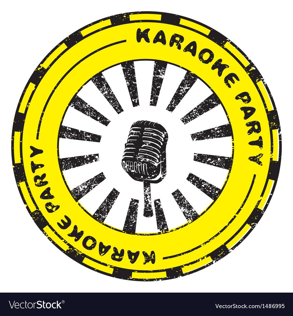 Karaoke party vector | Price: 1 Credit (USD $1)