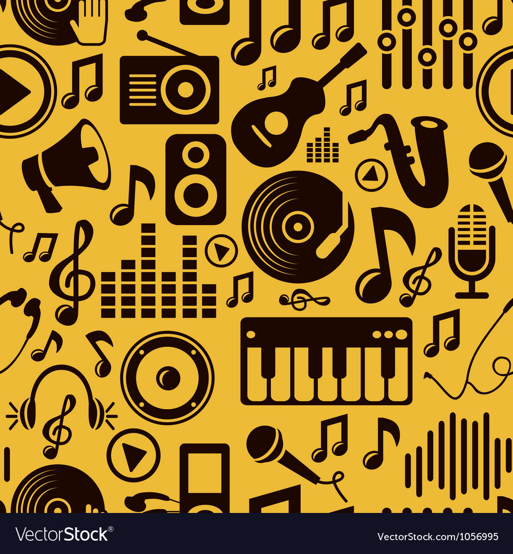 Music seamless pattern with icons vector | Price: 1 Credit (USD $1)