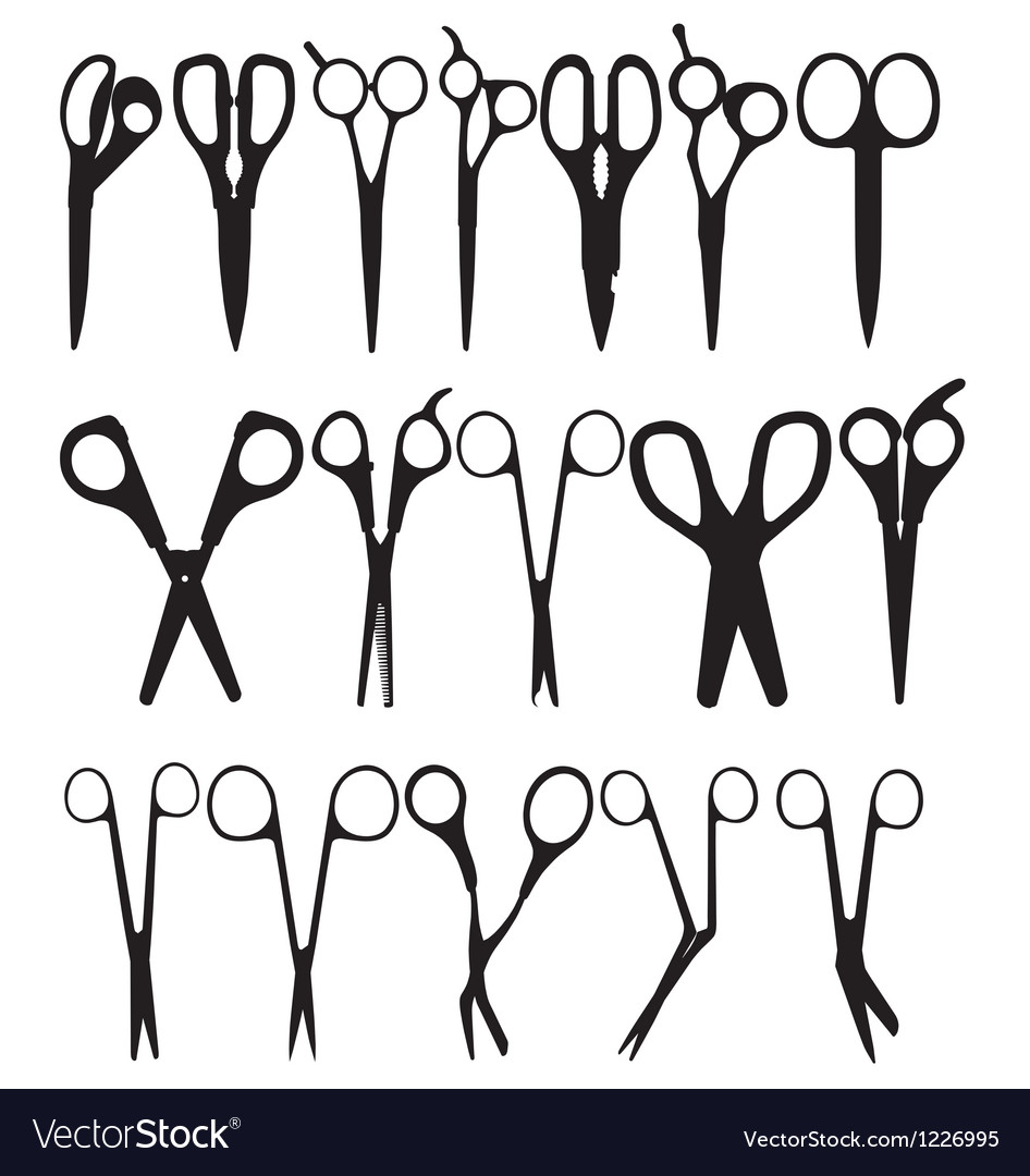 Scissor silhouettes vector | Price: 1 Credit (USD $1)