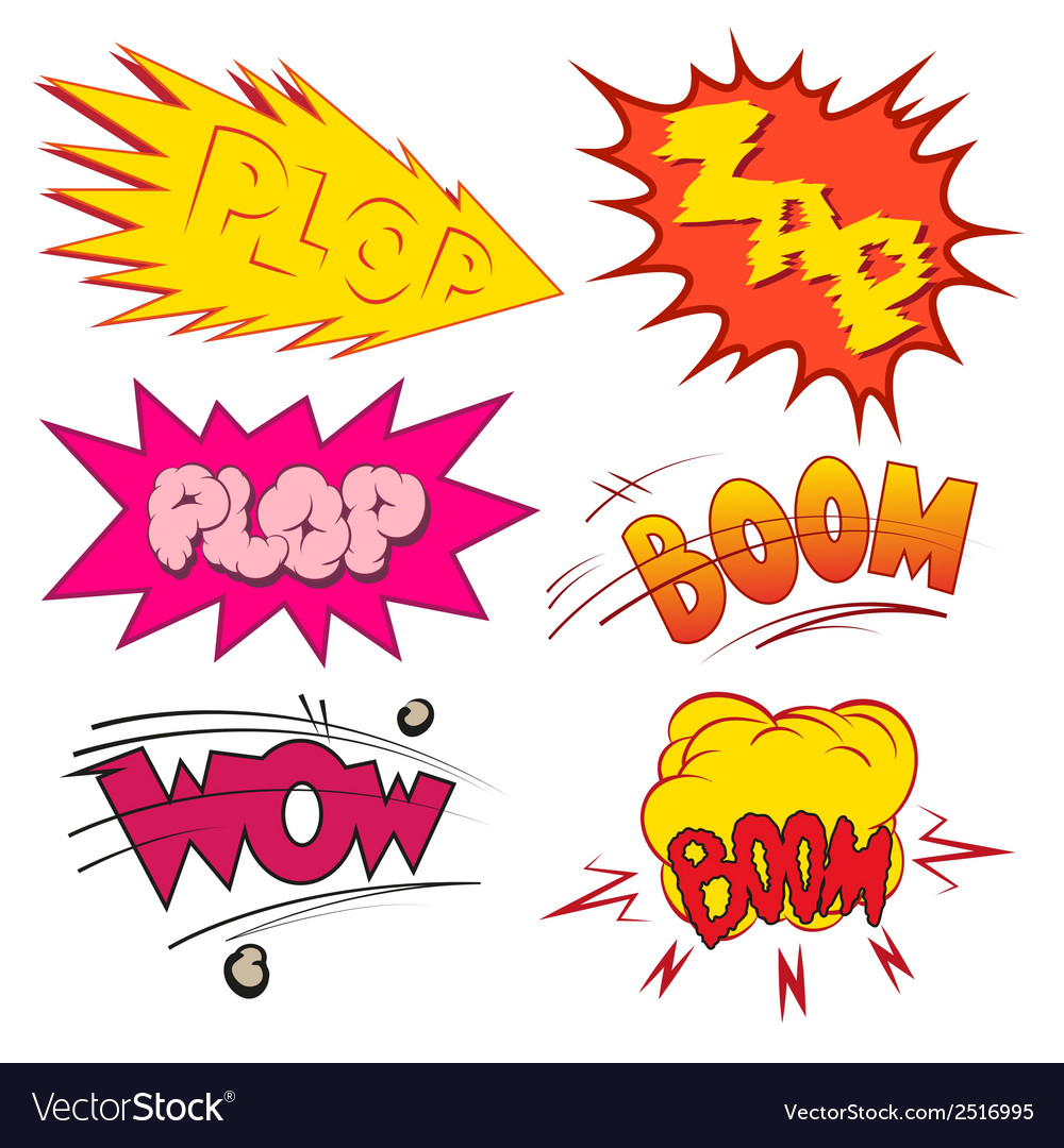 Set comic book explosion vector | Price: 1 Credit (USD $1)