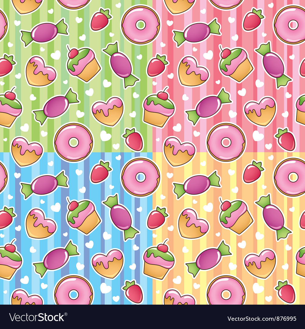 Sweets patterns vector | Price: 1 Credit (USD $1)