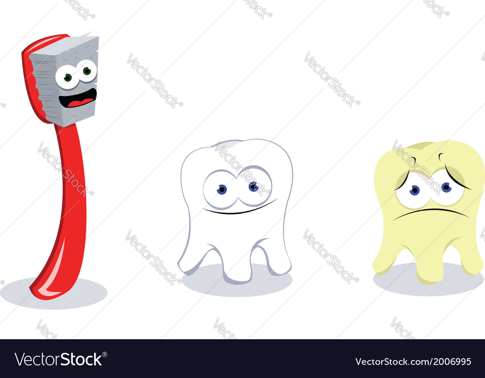 Toothbrush and teeth vector | Price: 1 Credit (USD $1)