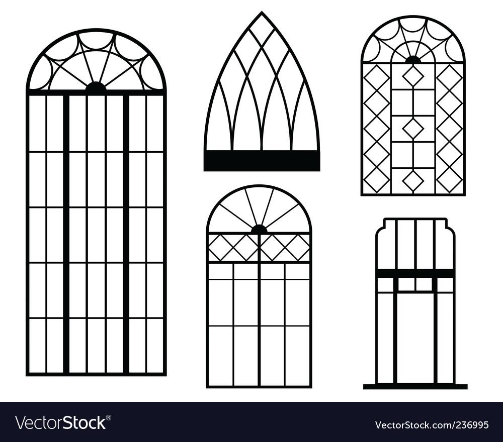 Vintage windows vector