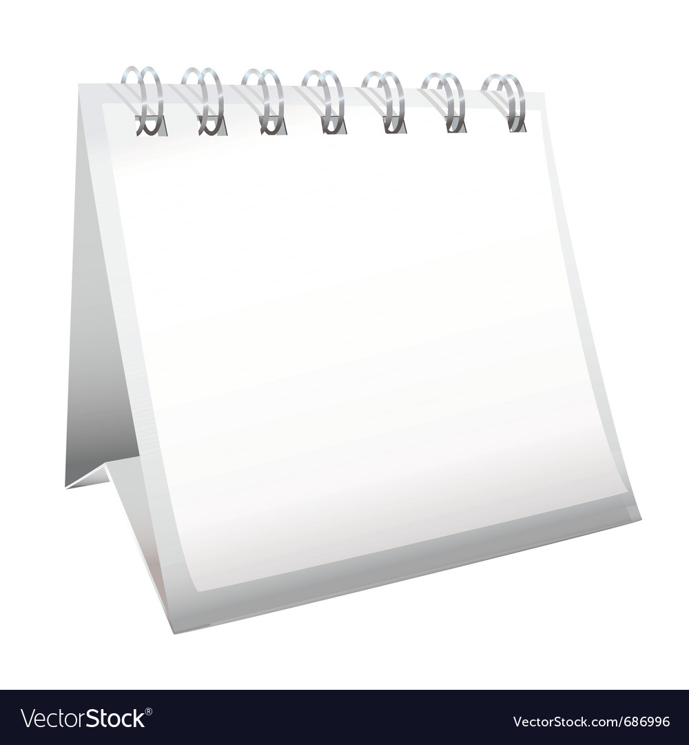 Blank calendar with spiral bound vector | Price: 1 Credit (USD $1)
