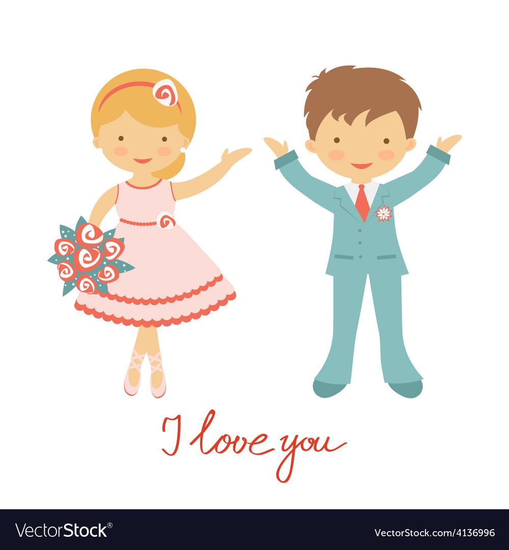 Cute wedding couple vector   Price: 1 Credit (USD $1)