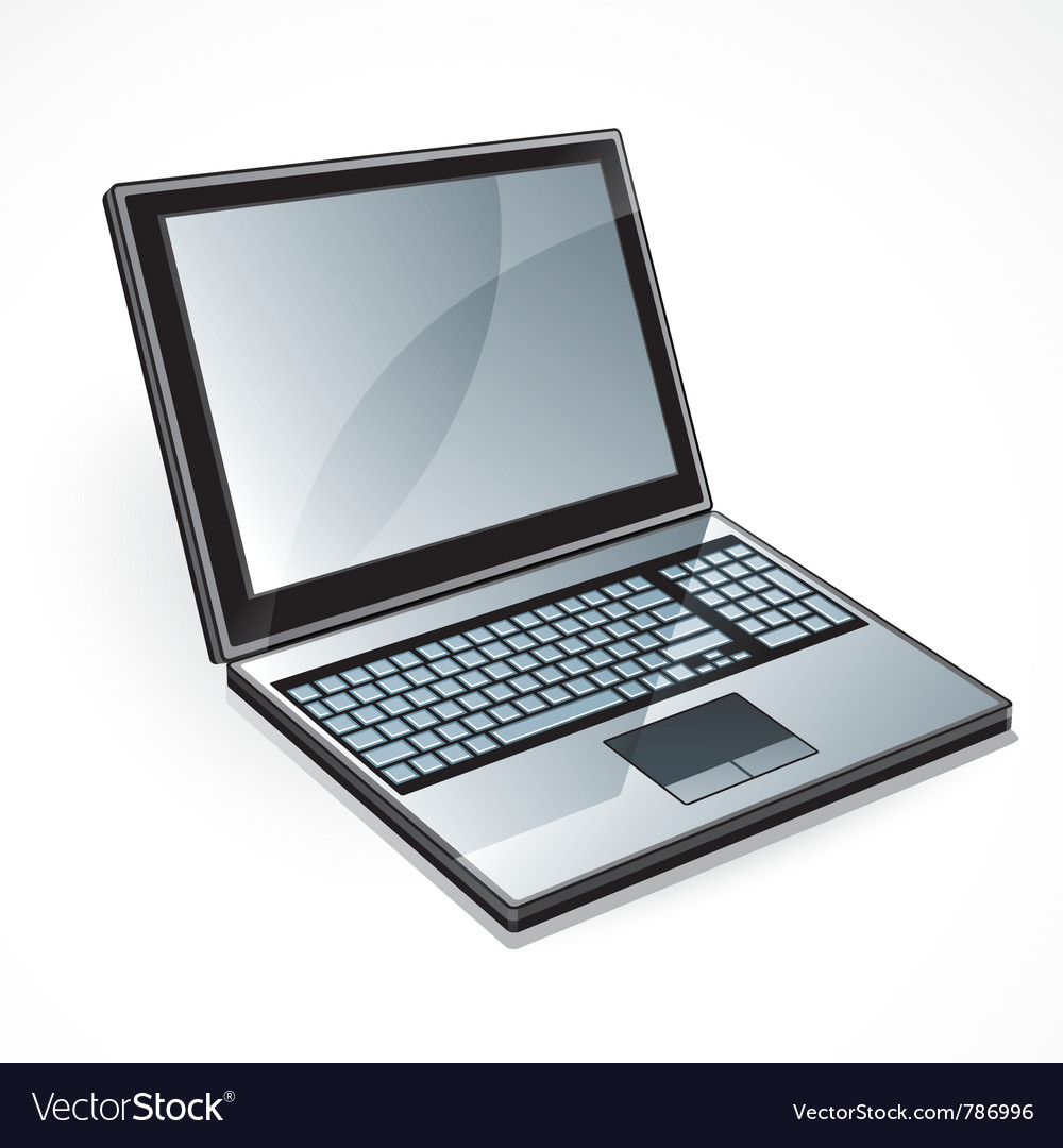 Open laptop computer vector | Price: 3 Credit (USD $3)