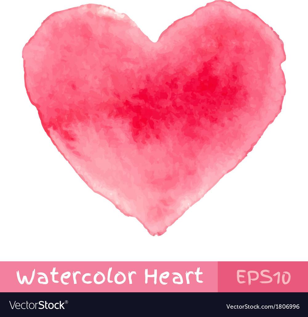 Pink watercolor heart vector | Price: 1 Credit (USD $1)