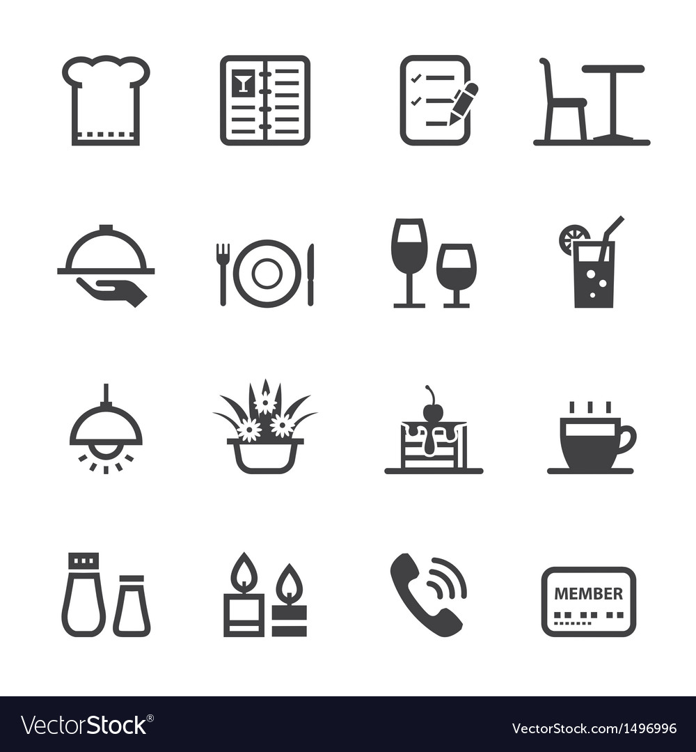Restaurant icons vector | Price: 1 Credit (USD $1)