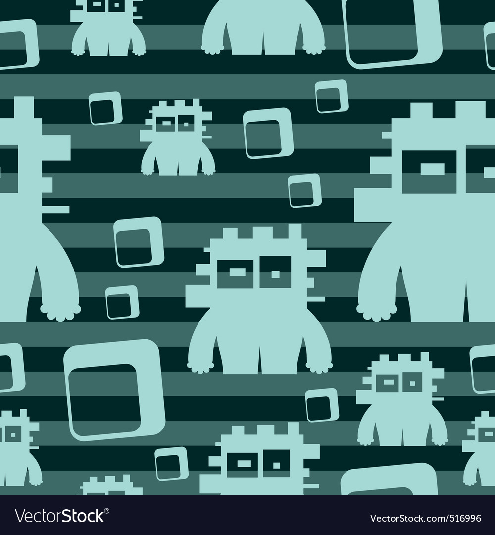 Seamless monsters vector | Price: 1 Credit (USD $1)