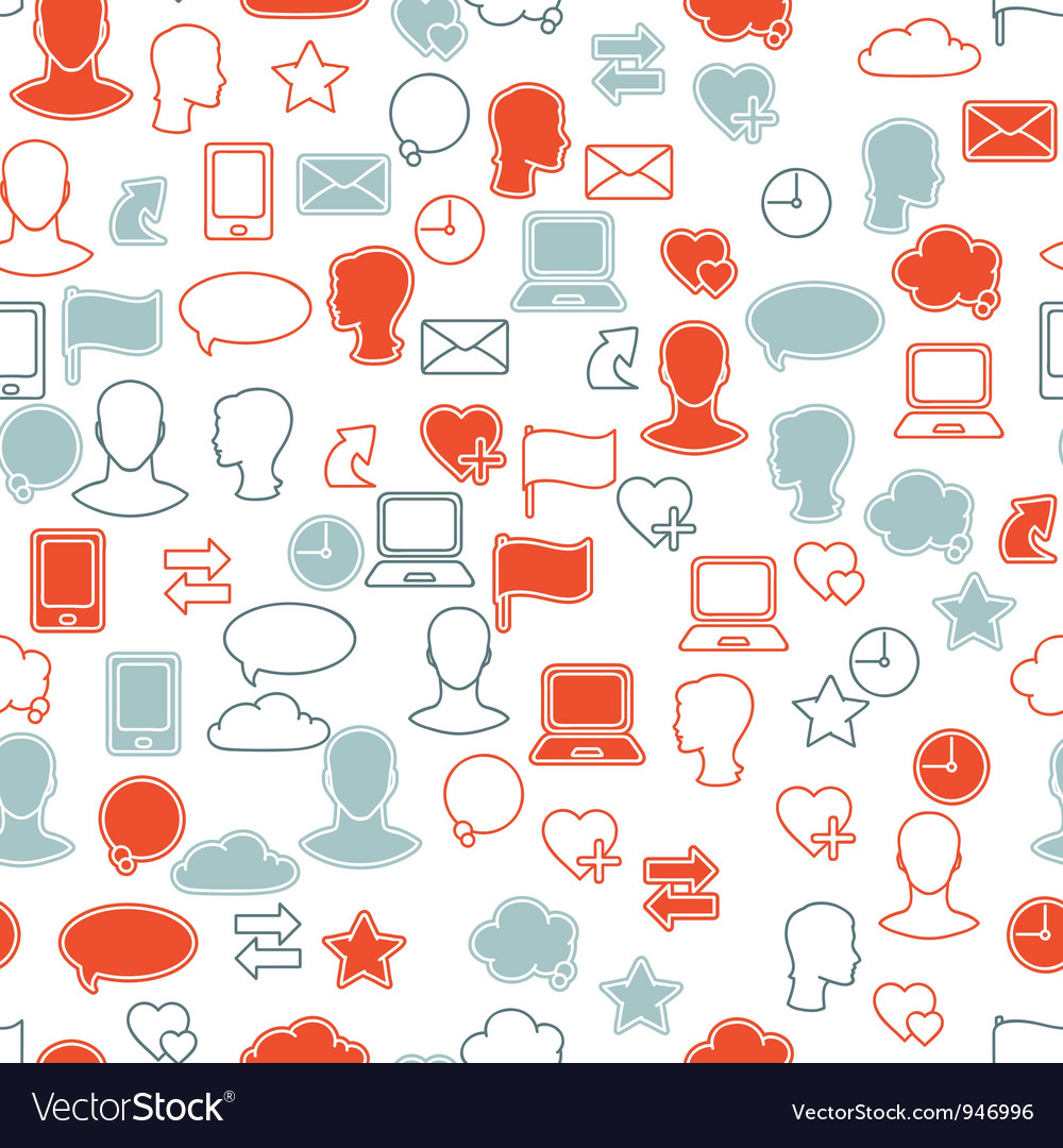 Social media icon pattern vector | Price: 1 Credit (USD $1)