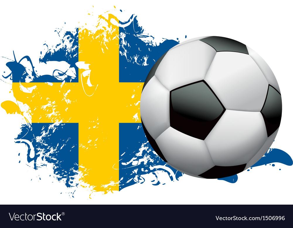 Sweden soccer grunge vector | Price: 1 Credit (USD $1)