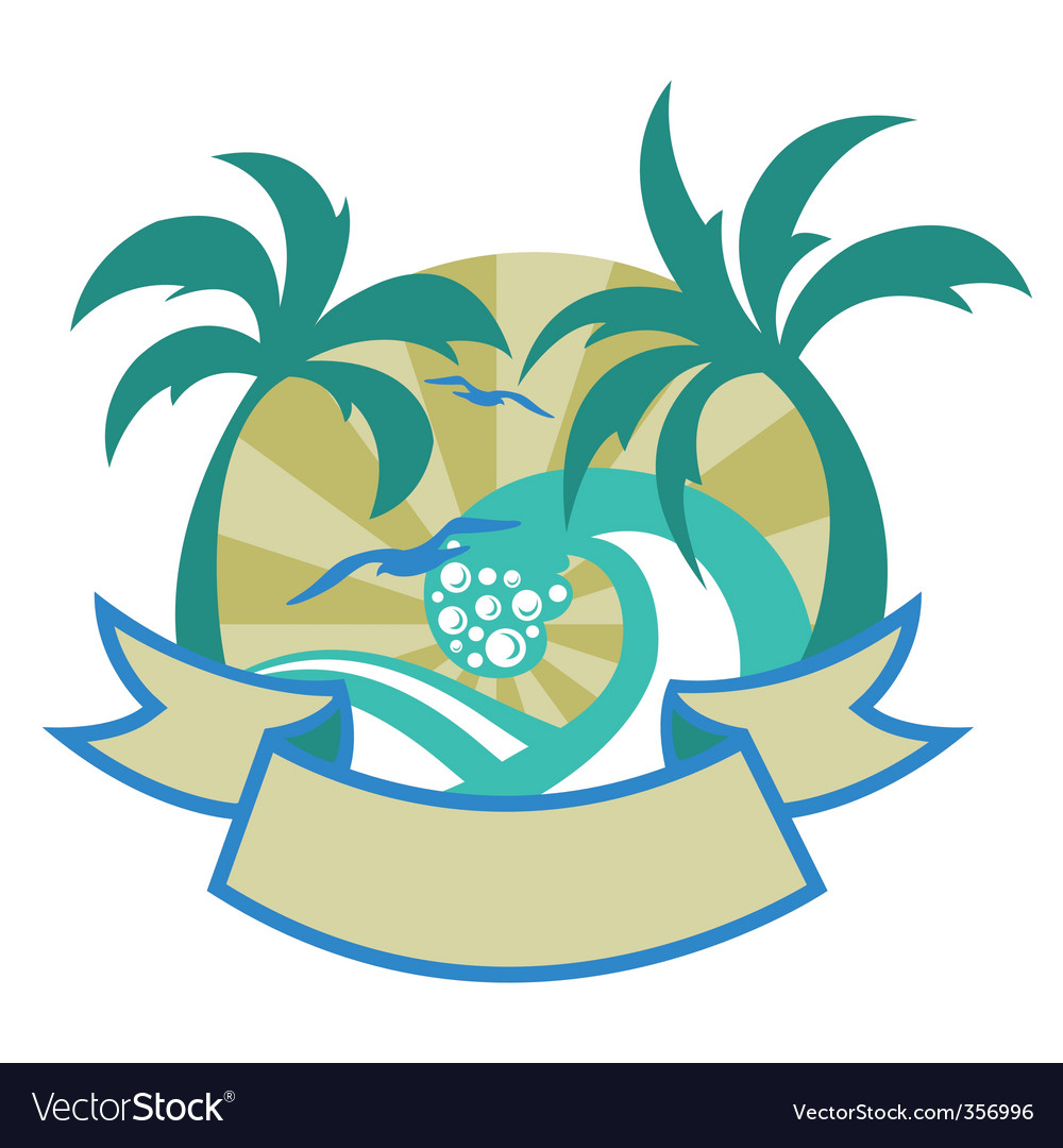 Tropical islands vector | Price: 1 Credit (USD $1)