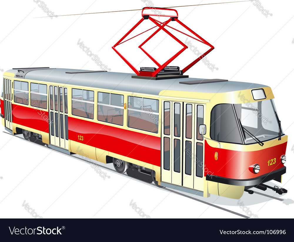 Urban tram vector | Price: 3 Credit (USD $3)