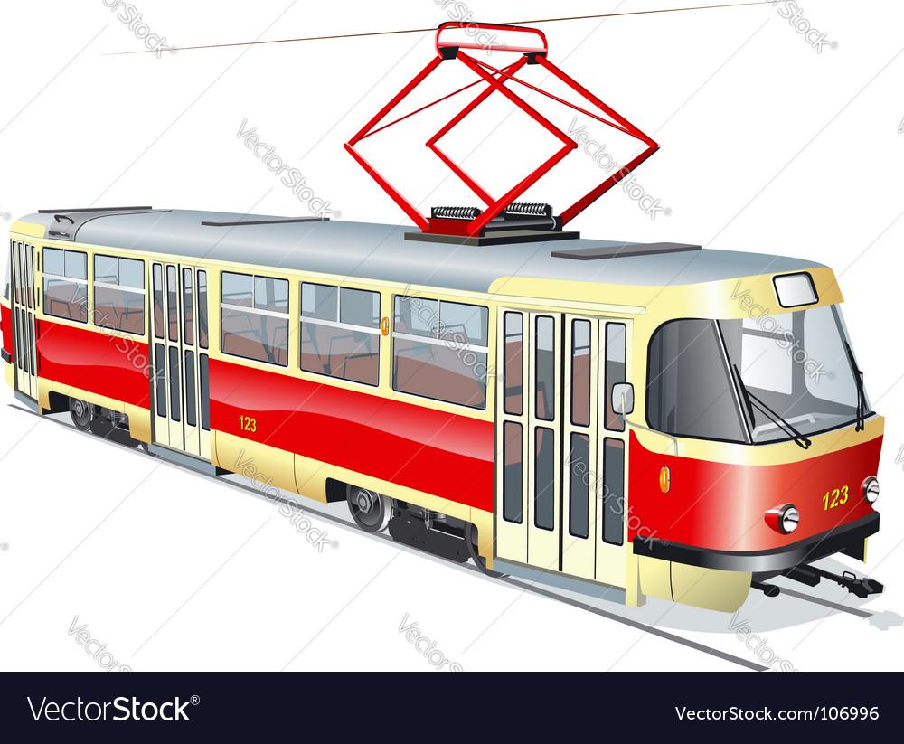 Urban tram vector | Price: 3 Credit (USD $3)