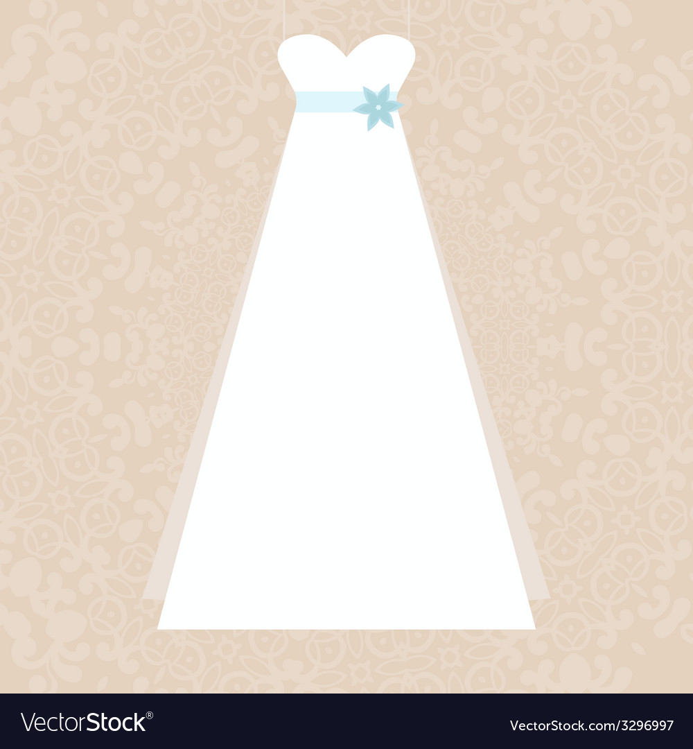 Bridal dress vector | Price: 1 Credit (USD $1)